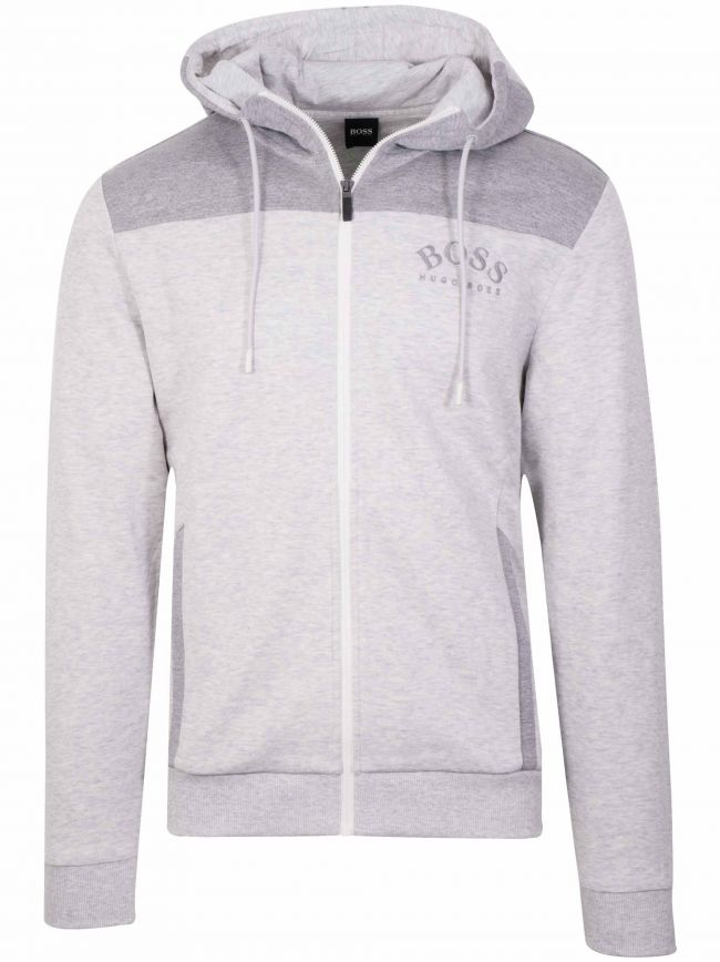 Saggy Grey Zipped Sweatshirt