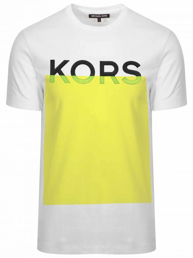 White & Yellow Logo T-Shirt