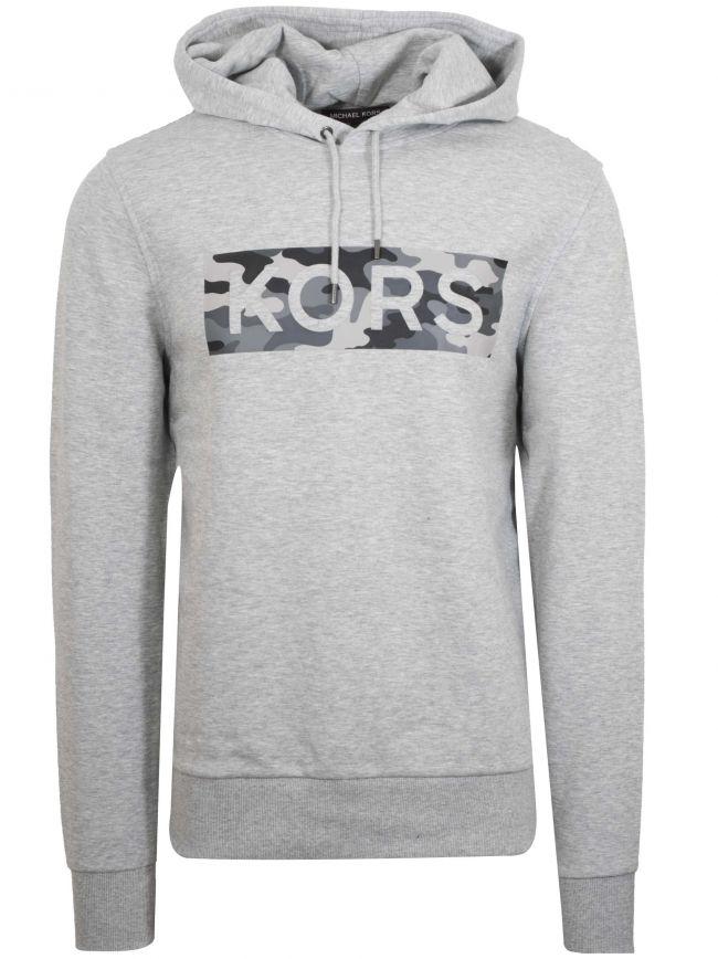 Grey Camo Logo Hooded Sweatshirt