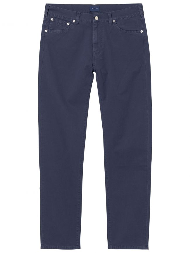 Navy Blue Slim Fit Chino