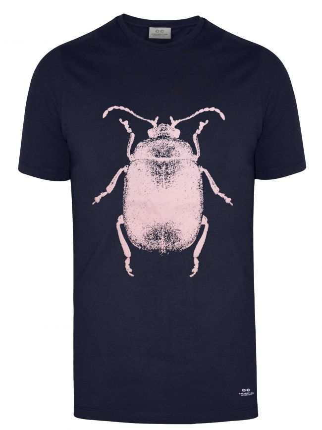 Navy Beetle Logo T-Shirt
