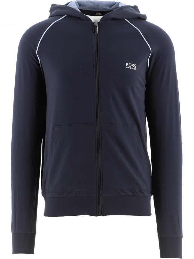 Navy Mix and Match Hooded Jacket