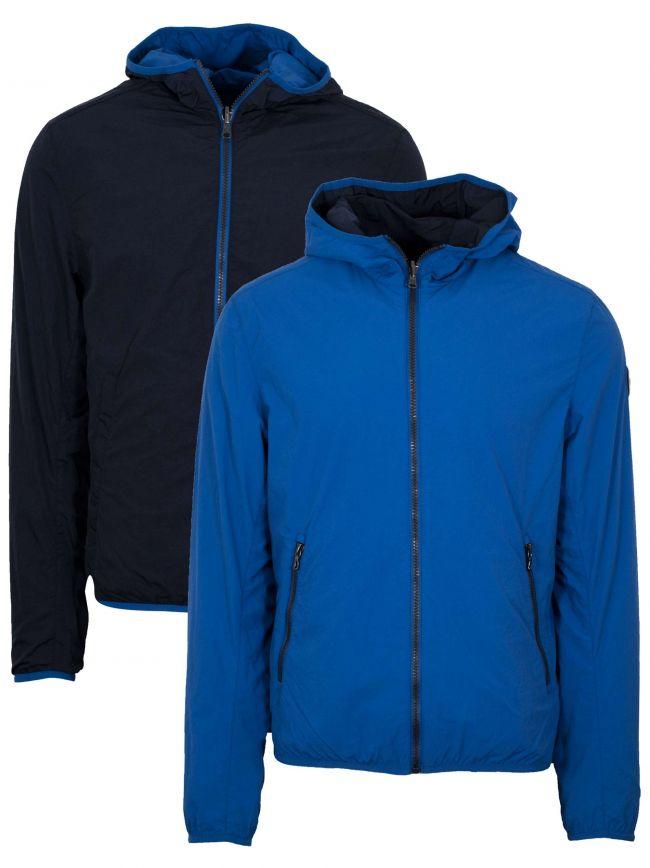 Royal Blue & Navy Reversible Hooded Jacket