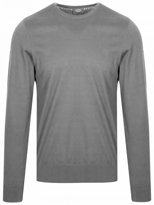 Grey Lightweight Round Neck Jumper