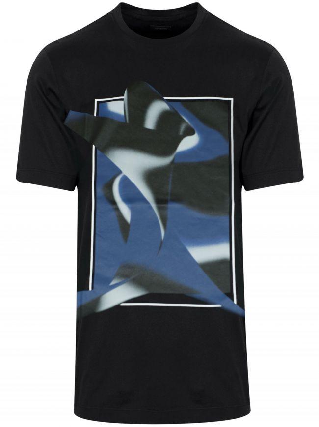 Black Square Print Logo T-Shirt
