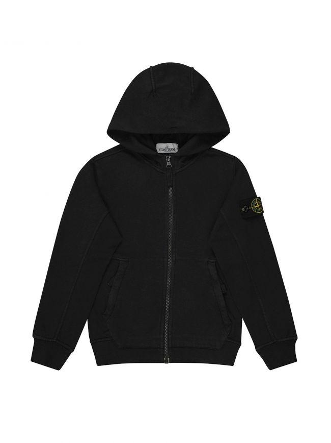 Black Hooded Zip Sweatshirt