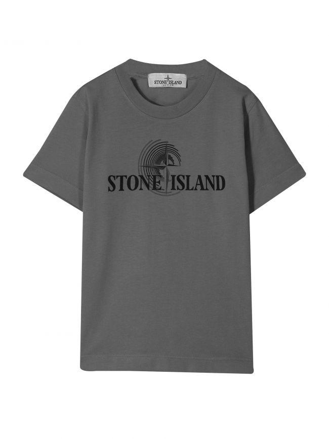 Dark Grey Printed Logo T-Shirt
