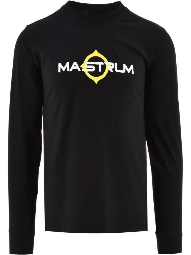 Black Long Sleeve Logo Print T-Shirt