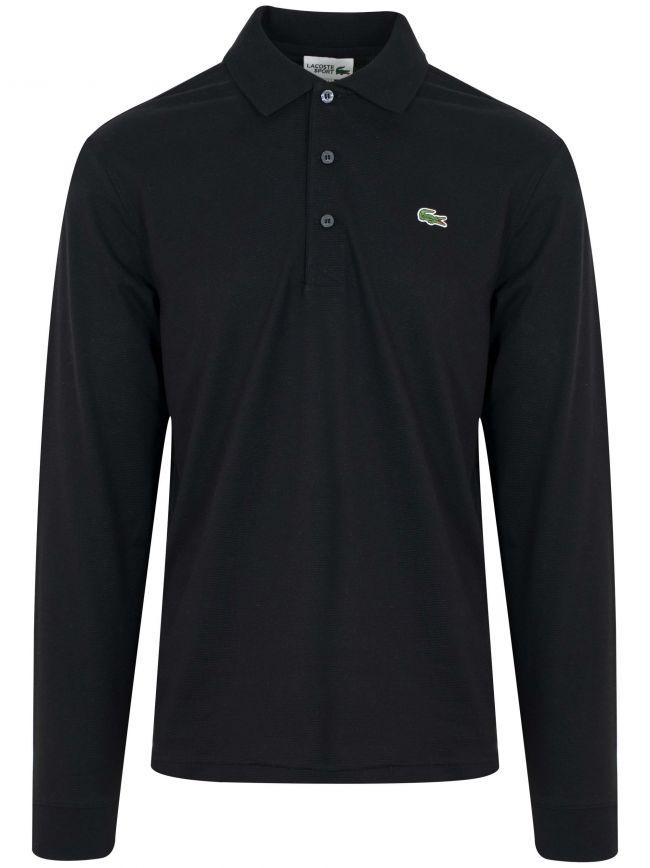 L1330 Black Long Sleeved Polo Shirt