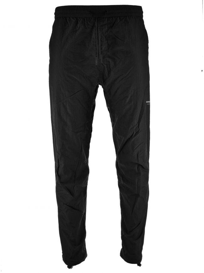 Black Liquid Nylon Tracksuit Pant
