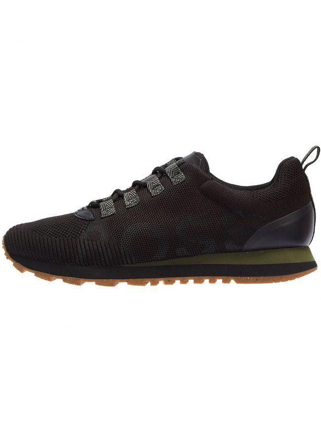 Black Knitted Parkour Runn Sneaker