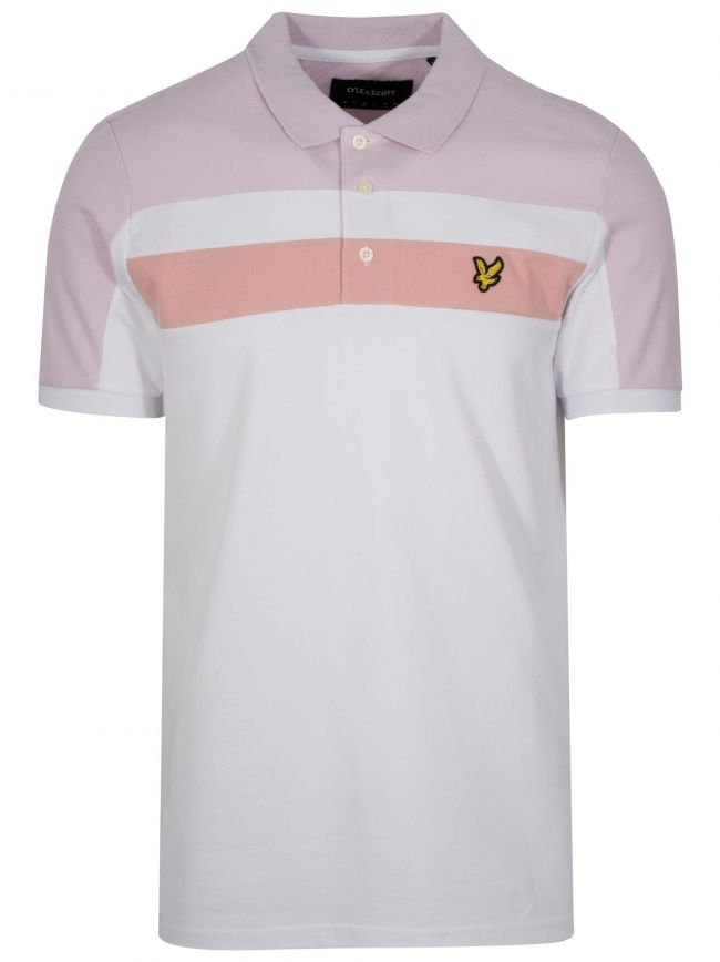 White Block Polo Shirt