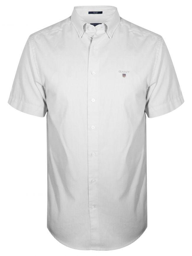 White Oxford Regular Short-Sleeve Shirt