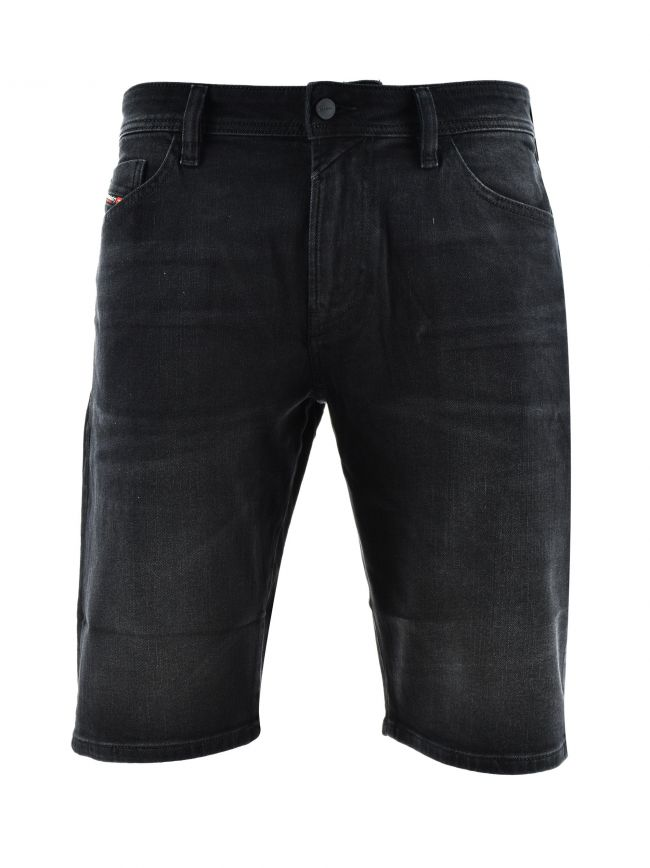 Thoshort Black Denim Washed Shorts
