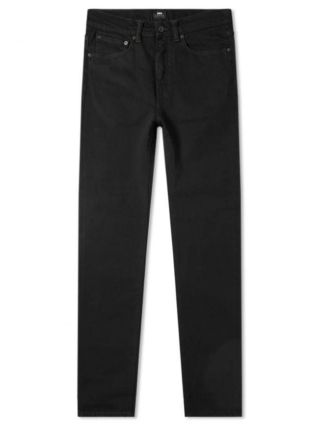 Black Rinsed ED-80 Power Black Denim Slim Tapered Jean