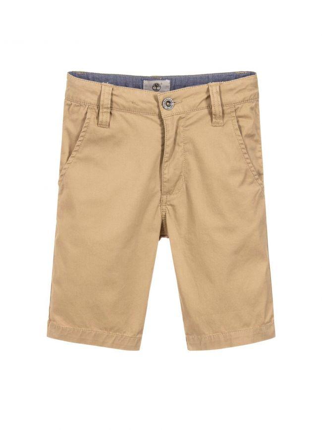 Timberland Kids Beige Chino Shorts