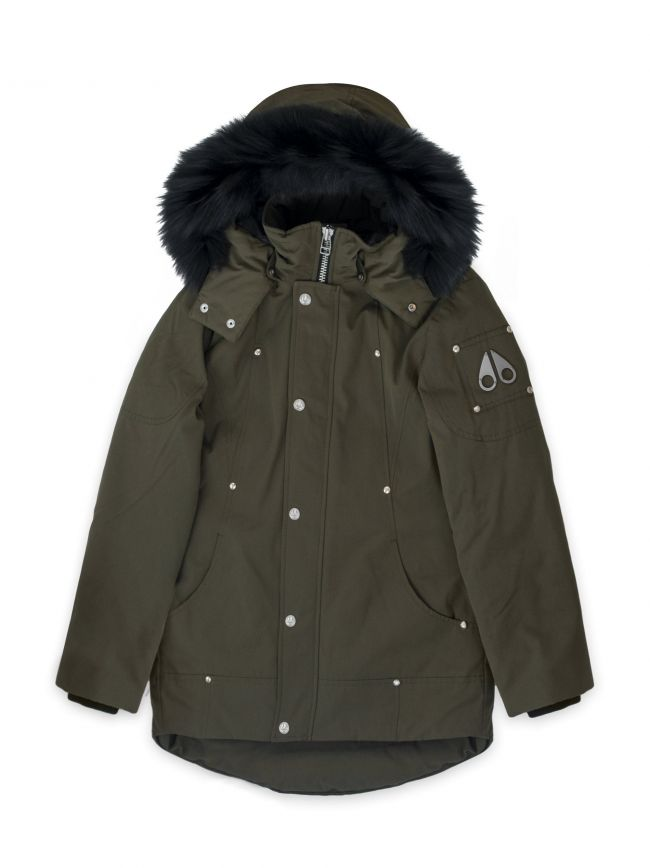 Army Green Unisex Parka Jacket