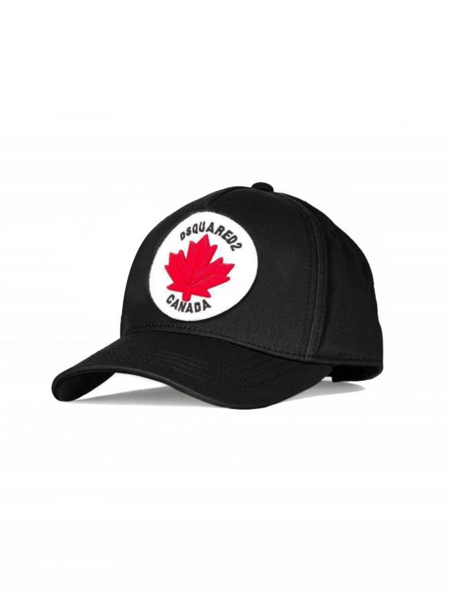 Black Canada Patch Embroidered Cap
