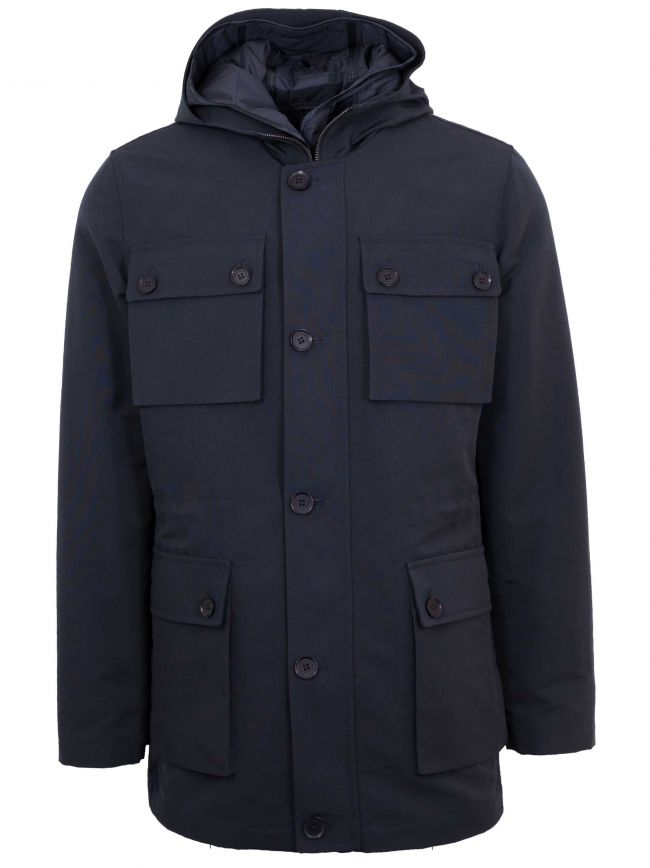 Navy Blue Car Coat