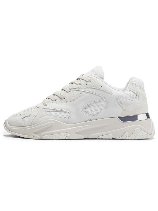 All White Suede Lurus Sneaker