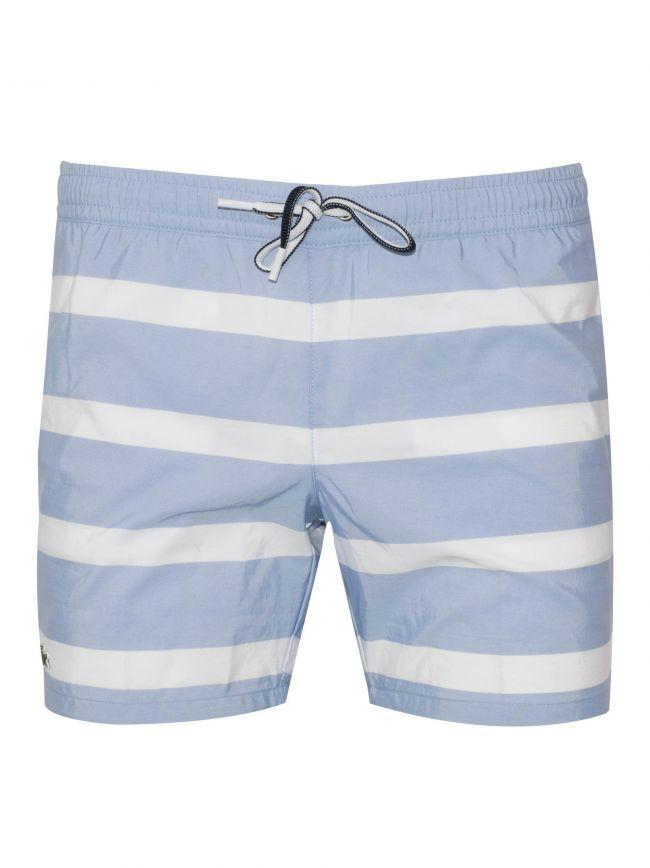 Blue & White Swim Short