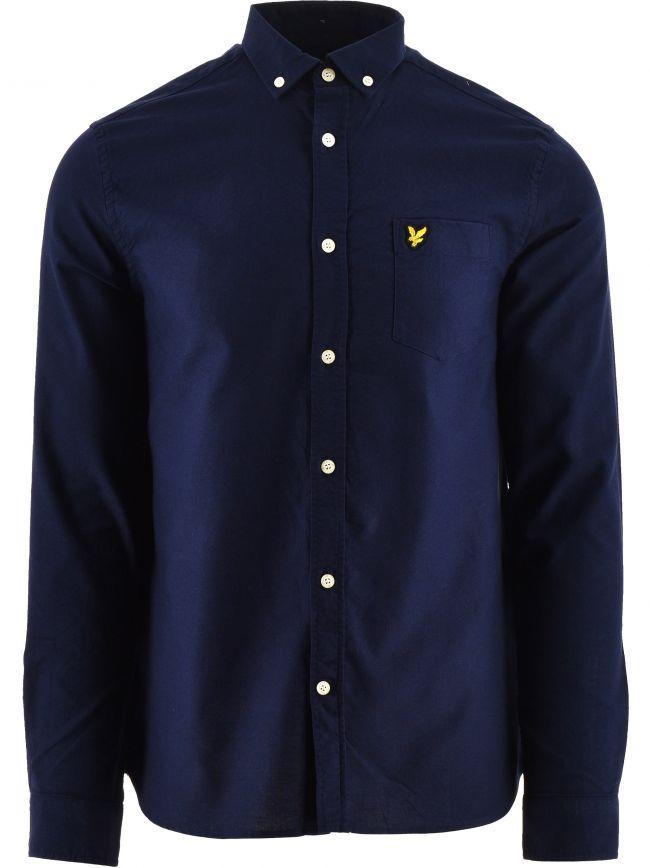 Navy Regular Fit Light Weight Oxford Shirt