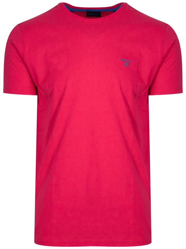 Watermelon Red Classic Crew Neck T-Shirt