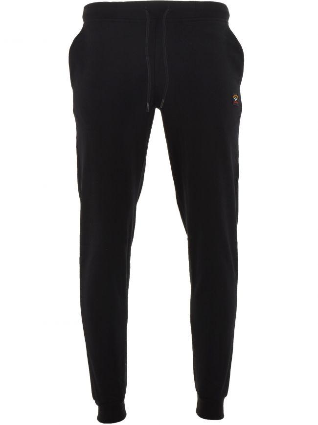 Black Banded Cuff Fleece Sweatpants