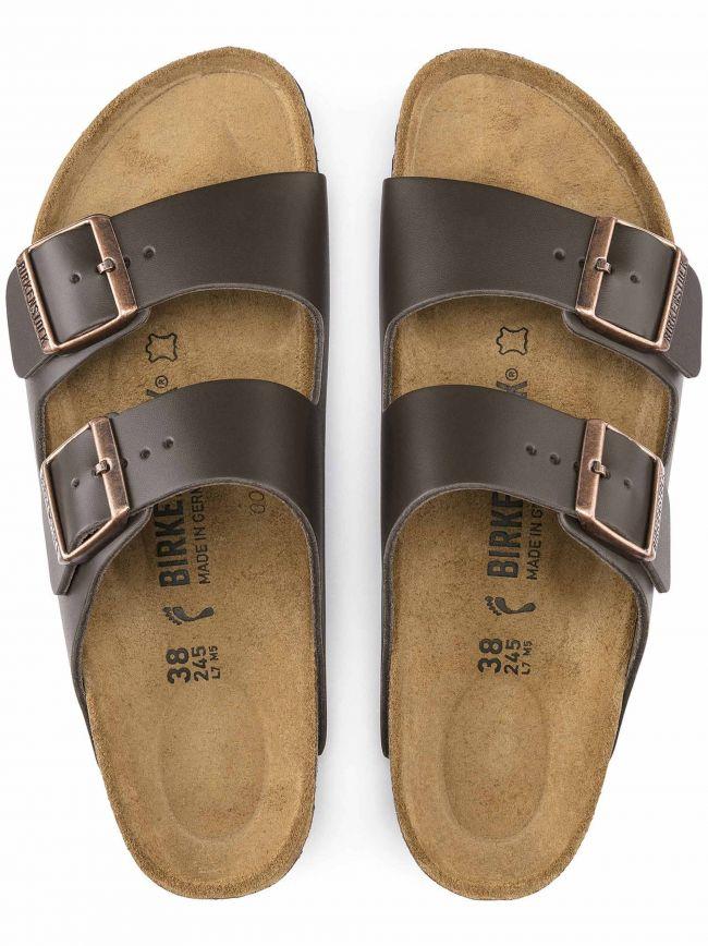 Dark Brown Arizona Leather Sandal