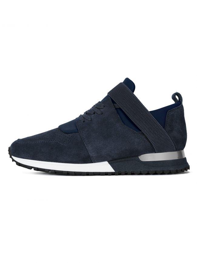 Navy BTLR Suede Elast Sneaker