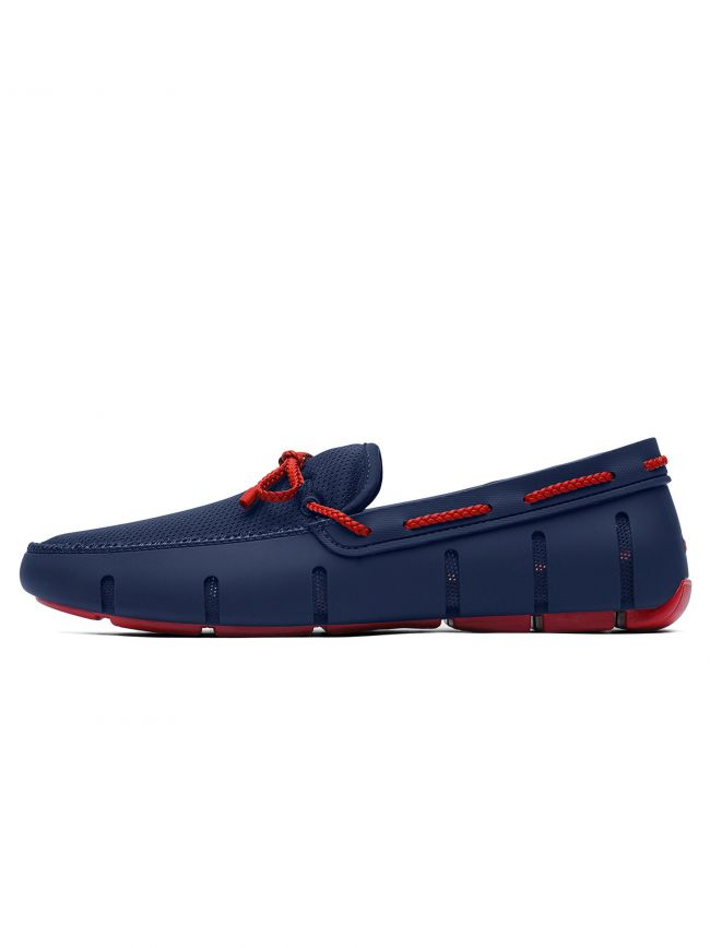 Navy & Red Alert Braided Lace Loafer