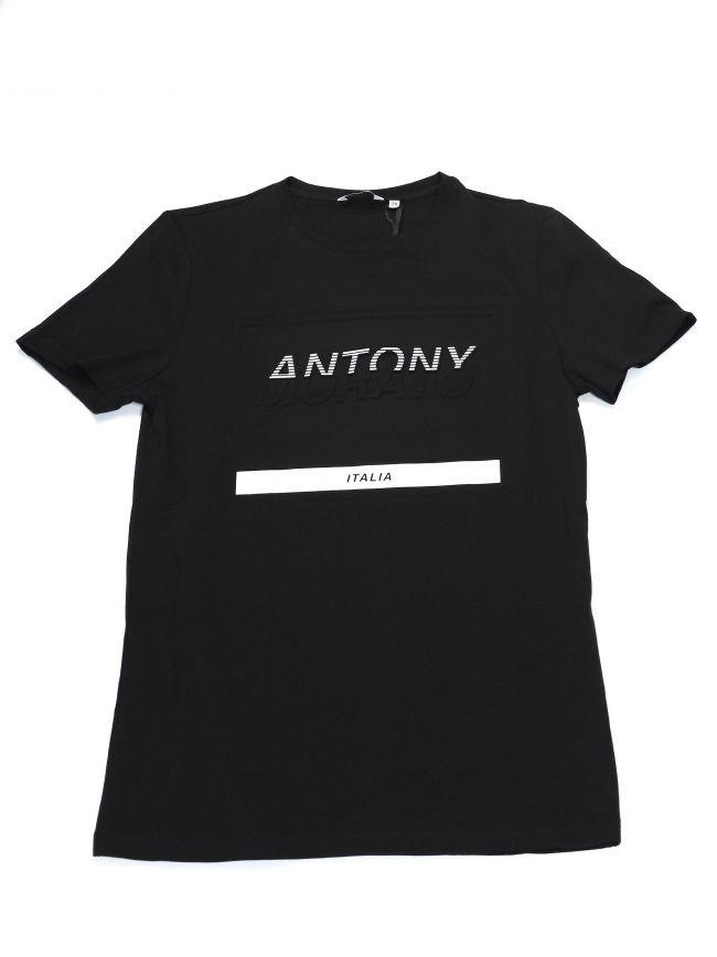Antony Morato Kids Black Chest Logo T-Shirt