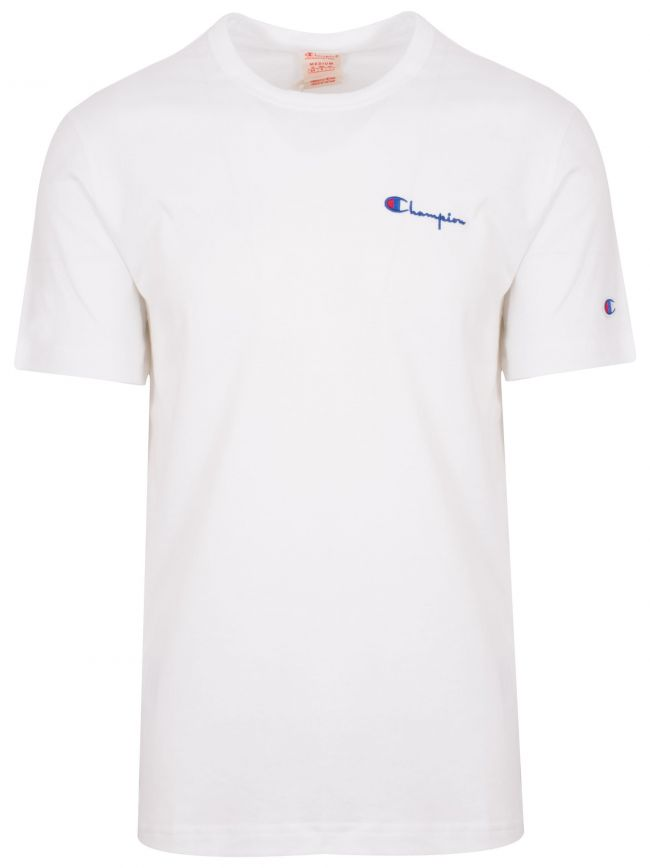 Reverse Weave White Logo T-Shirt