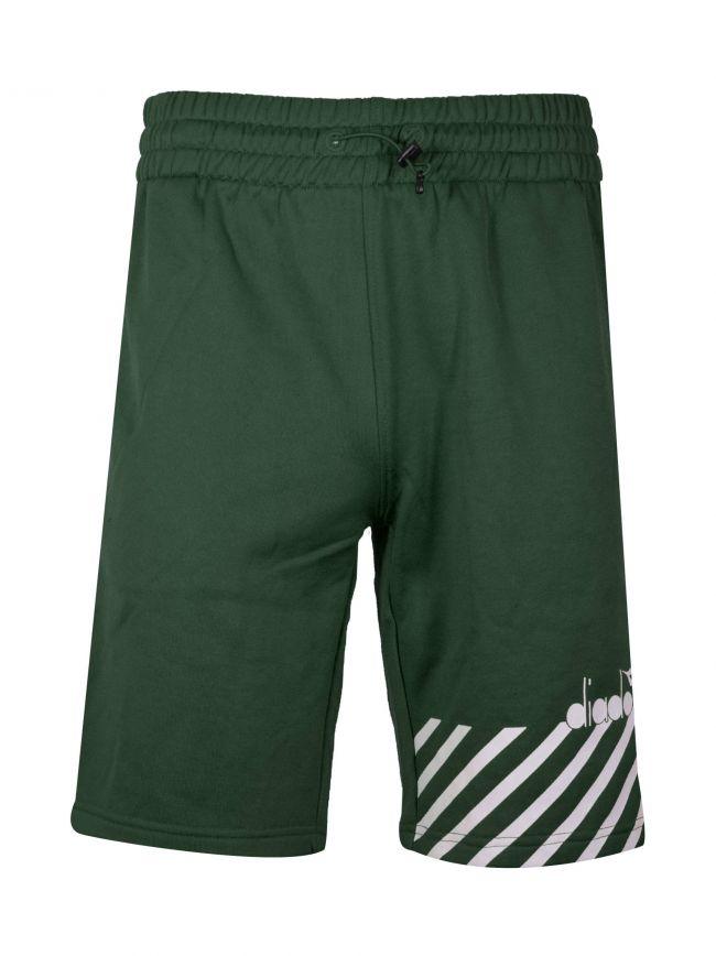 Green Polyester Shorts