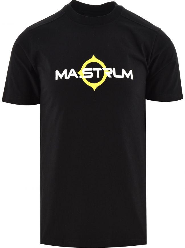 Black Short Sleeve Logo Print T-Shirt