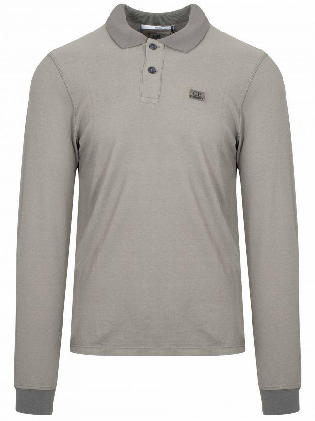 Tacting Khaki Long Sleeved Polo Shirt