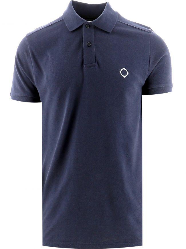 Navy Short Sleeve Pique Polo Shirt