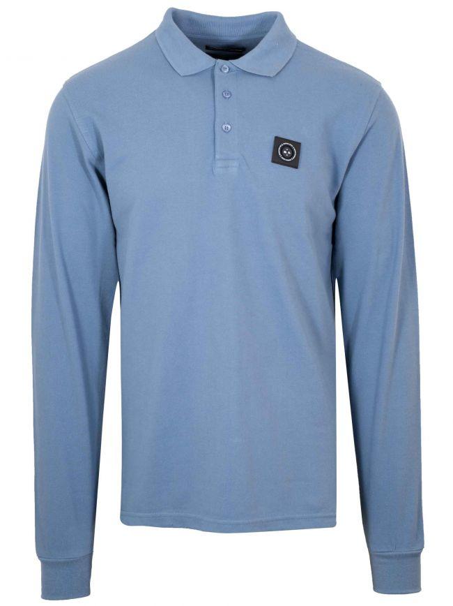 Quarry Blue Long-Sleeved Siren Polo Shirt