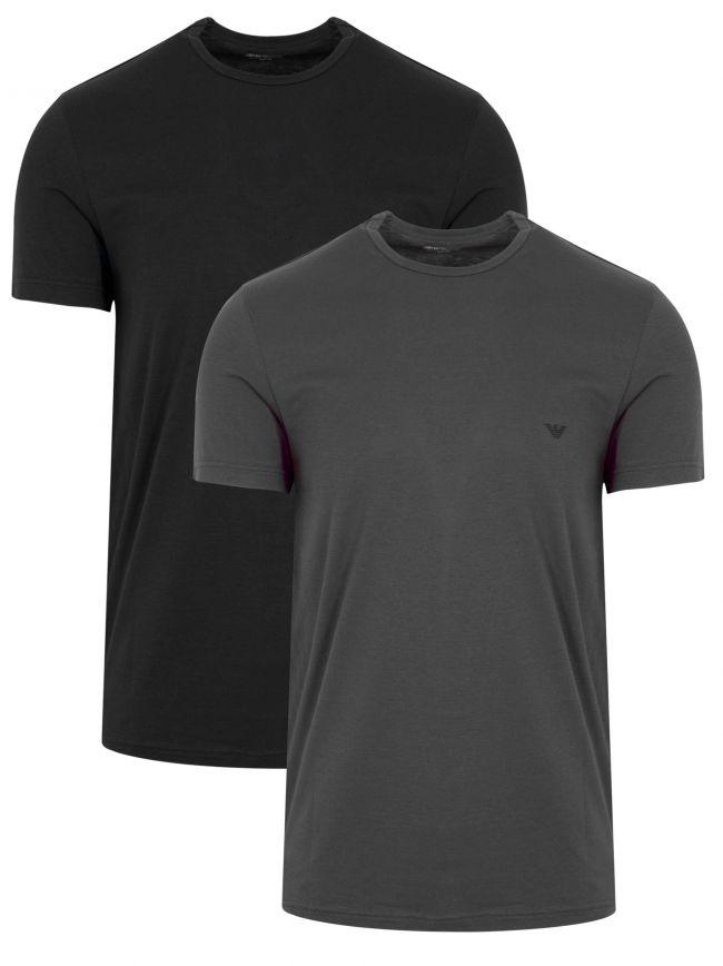 Black & Grey 2-Pack Short-Sleeved T-Shirt