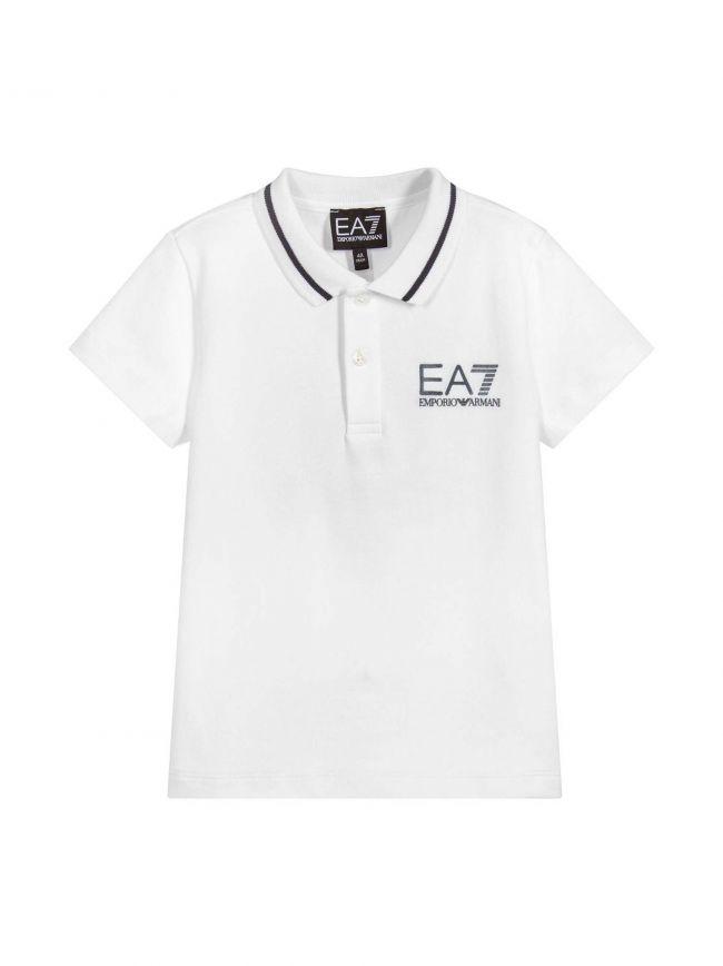 White Motif Polo Shirt