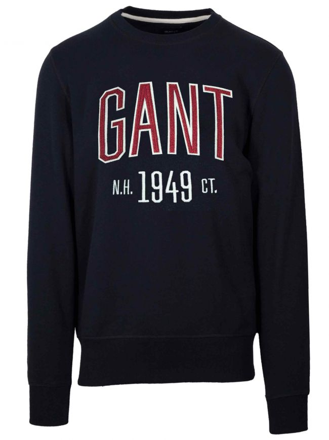Navy Logo Round Neck Sweatshirt