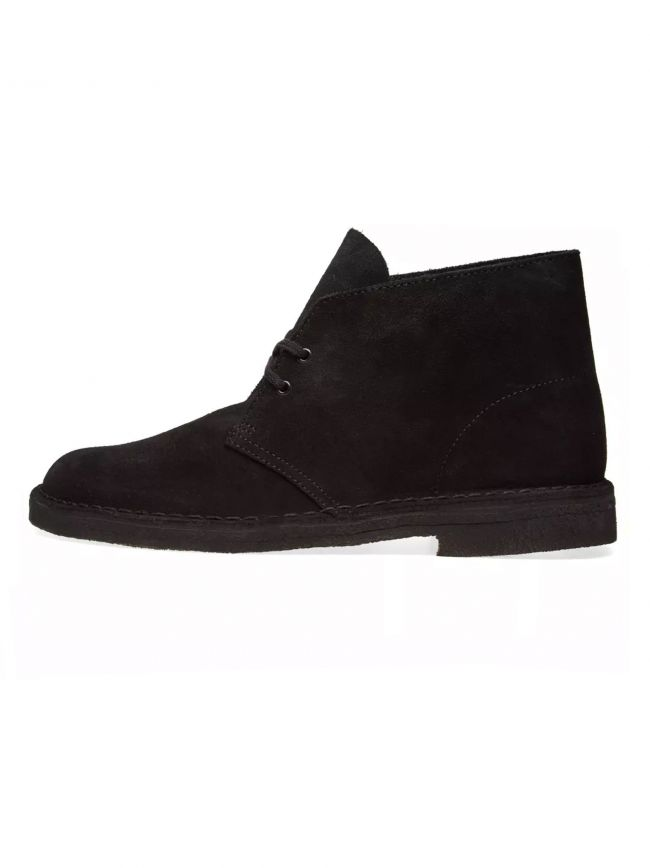 Black Suede Desert Boot