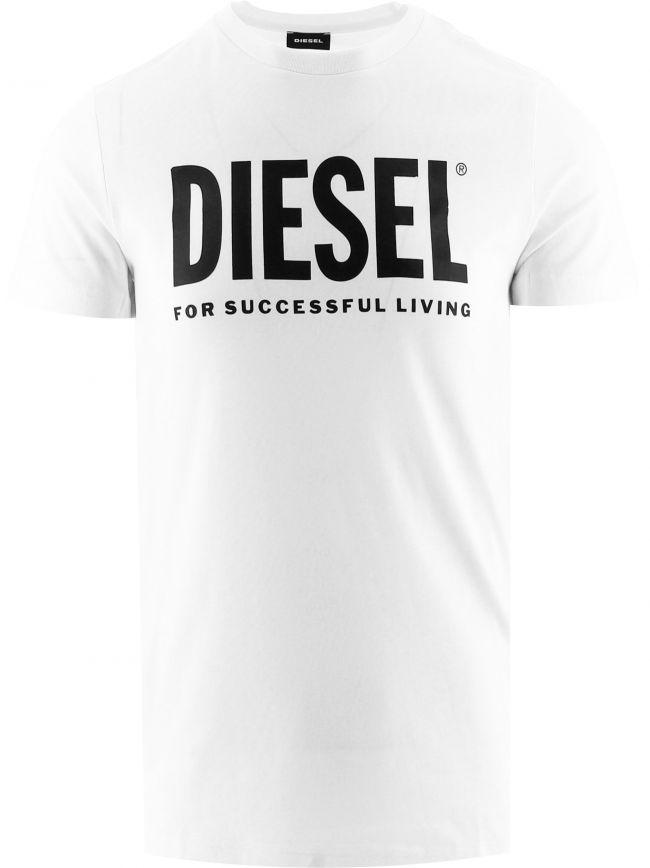 White Diego Print Logo T-Shirt