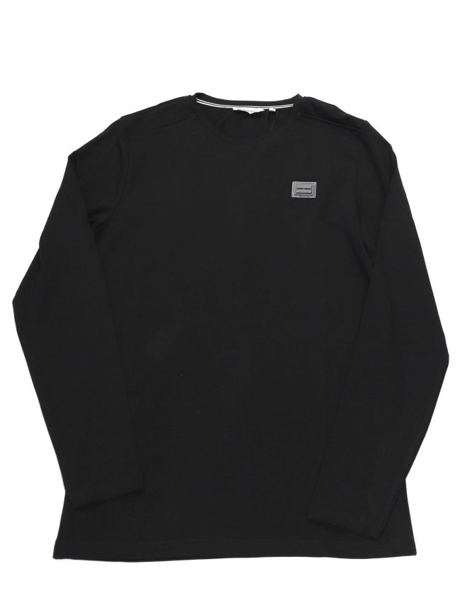 Antony Morato Kids Black Plaque Long Sleeve T-Shirt