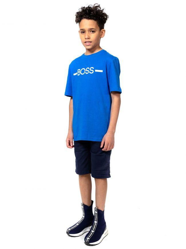 BOSS Kids Blue Logo T-Shirt