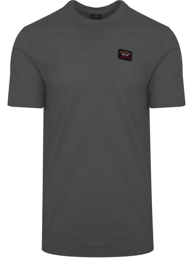 Charcoal Grey Patch Logo T-Shirt