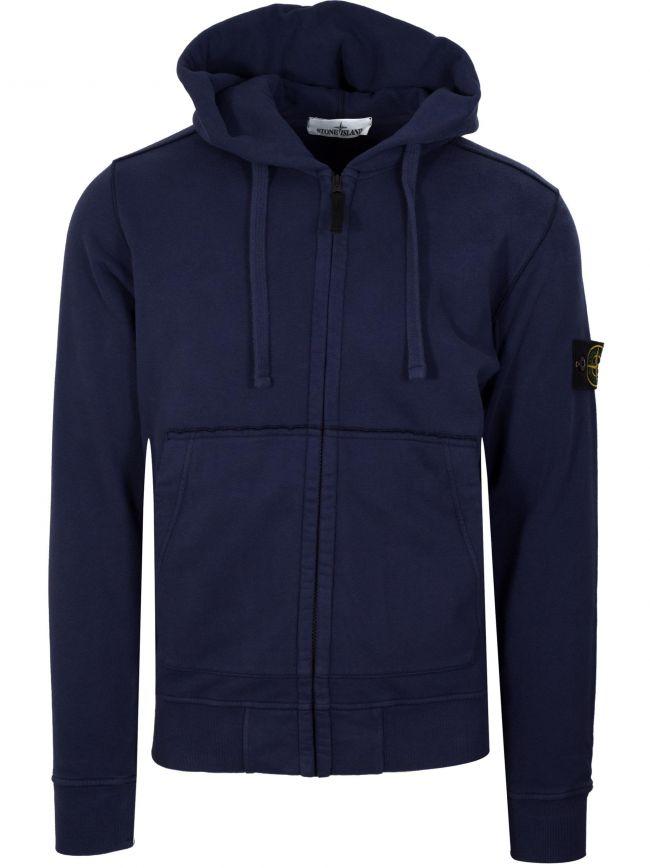 Ink Blue Zipped Hooded Sweatshirt