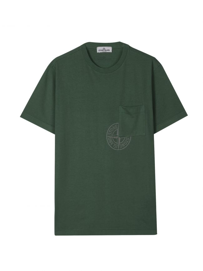 Khaki Green Pocket Logo T-Shirt
