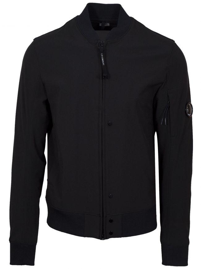 Black Soft Shell Bomber Jacket