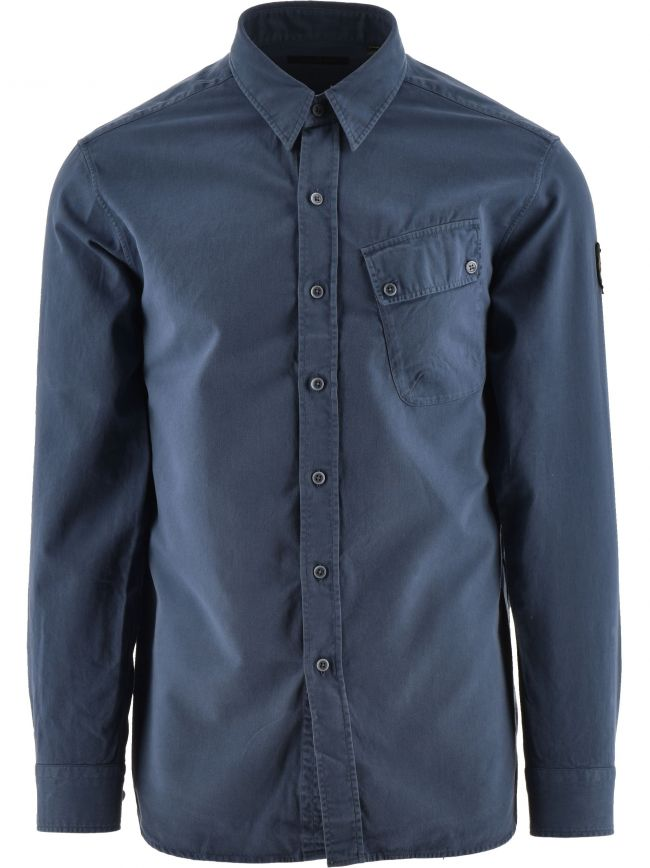 Racing Blue Pitch Twill Shirt